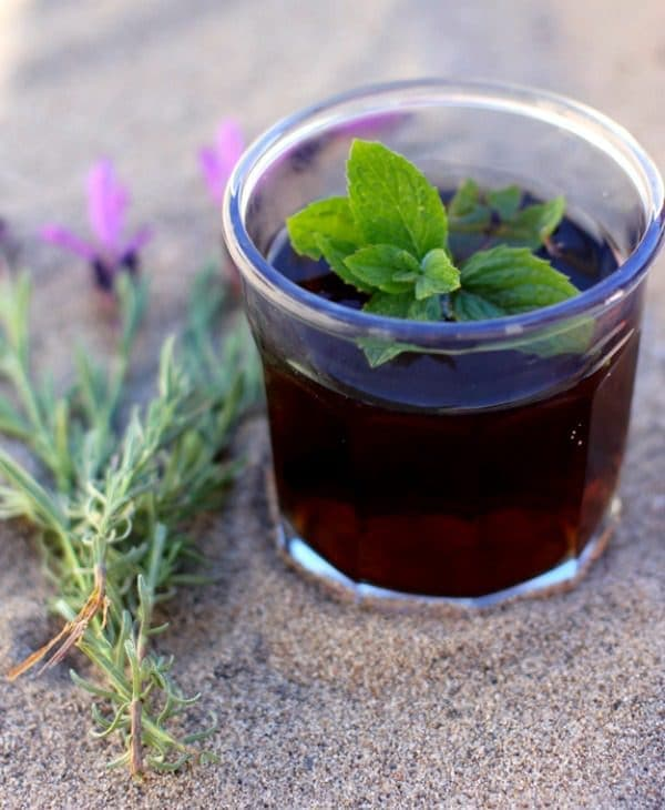 Unsweetened and delicious, this Lavender Mint Iced Tea is a healthy and refreshing way to stay hydrated all summer long!