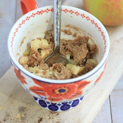 Chai Spiced Gluten-Free Apple Pie Mug Cake~a healthy breakfast, snack, or dessert in less than 10 minutes!
