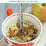 Cake for Breakfast! Chai Spiced Gluten-Free Apple Pie Mug Cake