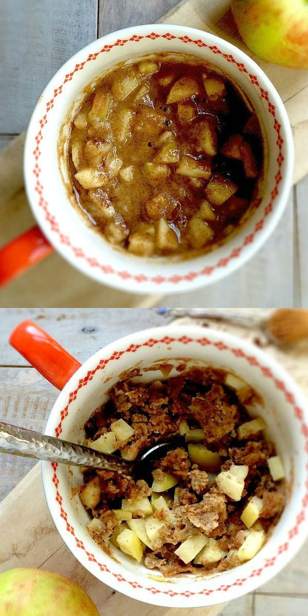 ... be enjoying this healthy Chai Spiced Gluten-Free Apple Pie Mug Cake