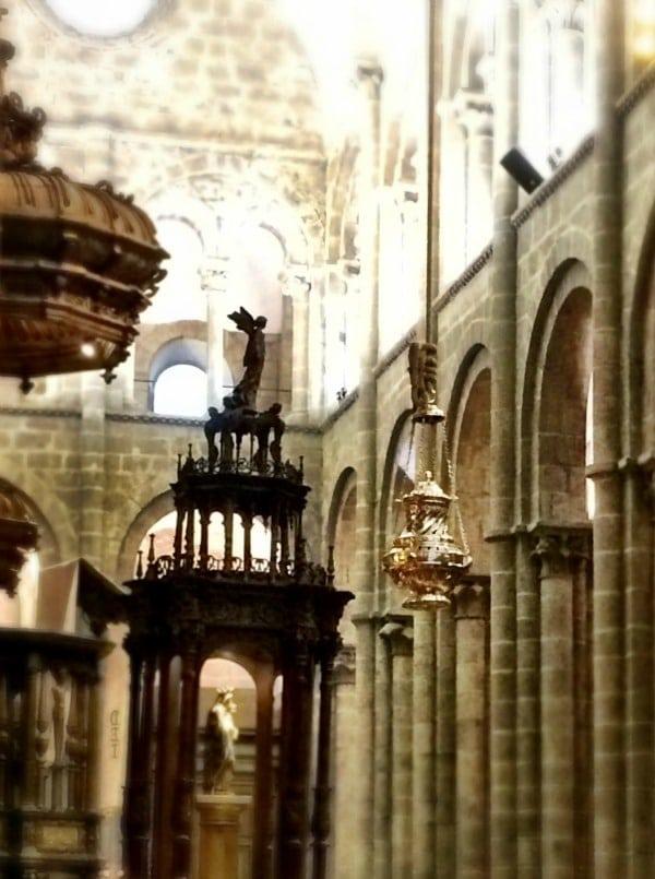 Botafumeiro inside the Catedral de Santiago de Compostela.