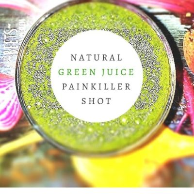 """Pain? Sore muscles? Inflammation? Before you reach for an Advil, give this Natural Green Juice """"Painkiller"""" Shot a try!"""
