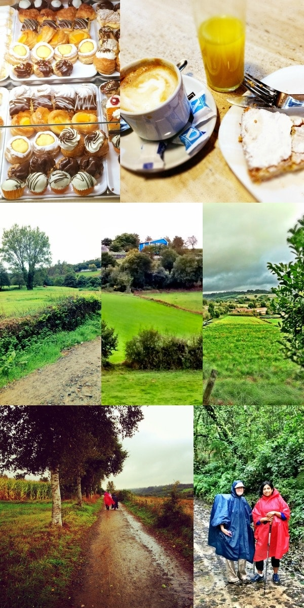 Walking from Ribadiso to O'Pedrouzo, Spain on The Camino Frances || The Spicy RD
