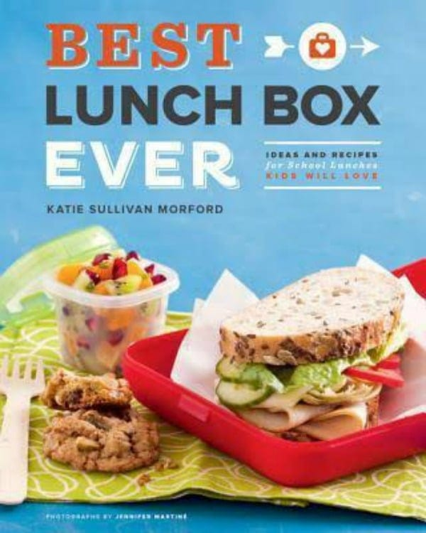 Lots of easy, healthy and fun school lunch ideas in Katie Morford's cookbook, Best Lunchbox Ever.