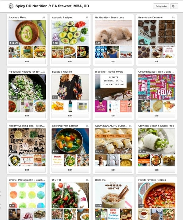 Happiness is having alphabetized Pinterest boards!