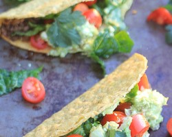 I promise you won't miss the meat with these AMAZING Crunchy Lentil Tacos with Avocado Feta Guacamole. Serve them Taco Bar Style w/ all the fixins' for a Meatless Monday meal EVERYONE will devour! | Vegetarian & gluten-free.