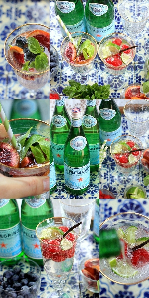 Make your own DIY Sparkling Water Bar for a fun and festive party idea! | Sponsored by Nestle Waters at The Spicy RD