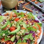 Rainbow Rotisserie Chicken Salad w/ Avocado & Honey Mustard Dressing