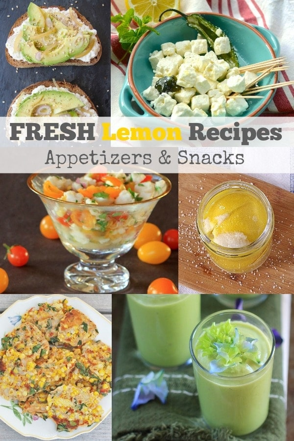 When life gives you lemons make these fresh and healthy lemon recipes! | Appetizers and Snacks