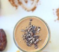 Get your glow on! Cacao Date Smoothie & Cookbook Giveaway