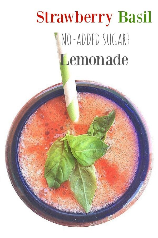 Strawberry Basil Lemonade + 8 {Delicious} Reasons To Eat Strawberries