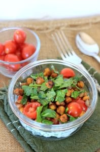 Savory Yogurt Parfait with Spicy Roasted Chickpeas