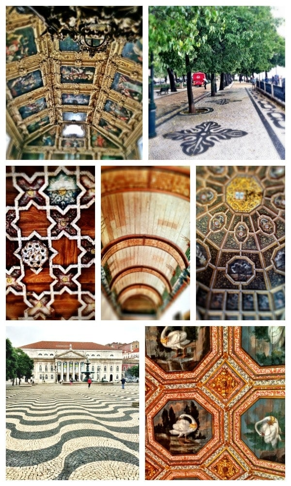 Lisbon is a magical place! Be sure and check out all the gorgeous ceilings and floors when you visit! | Portugal Travel
