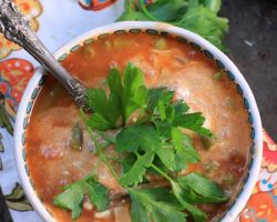 Quick and Easy One Pot Lasagna Soup {Vegetarian, Gluten Free}