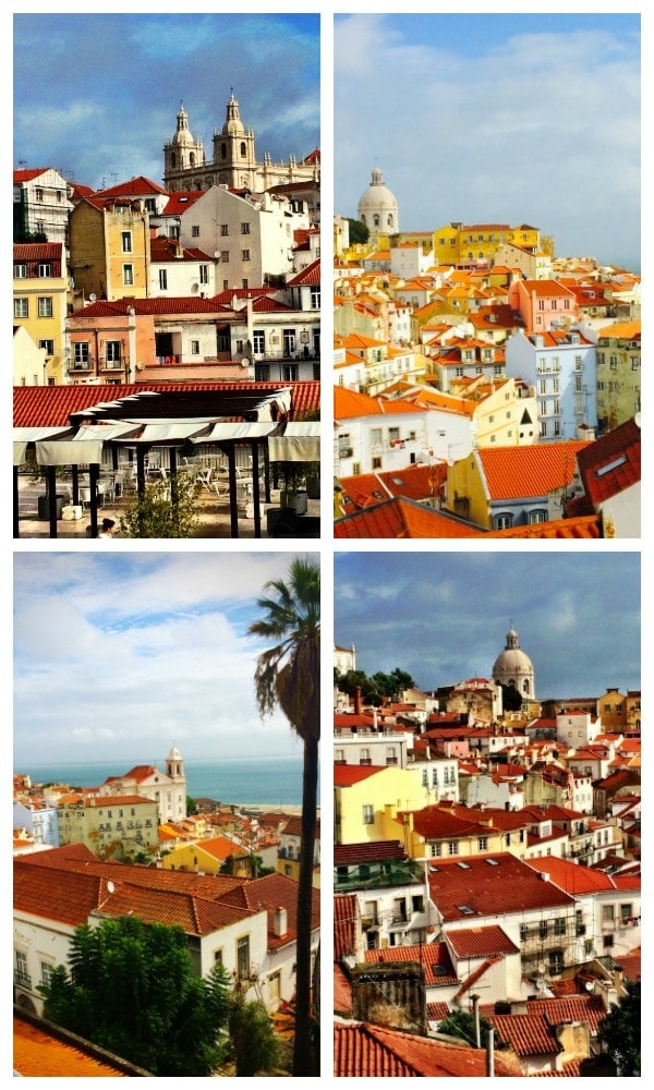 Must do when in Lisbon...gaze out endlessly over the gorgeous red tile roofs! | Portugal Travel