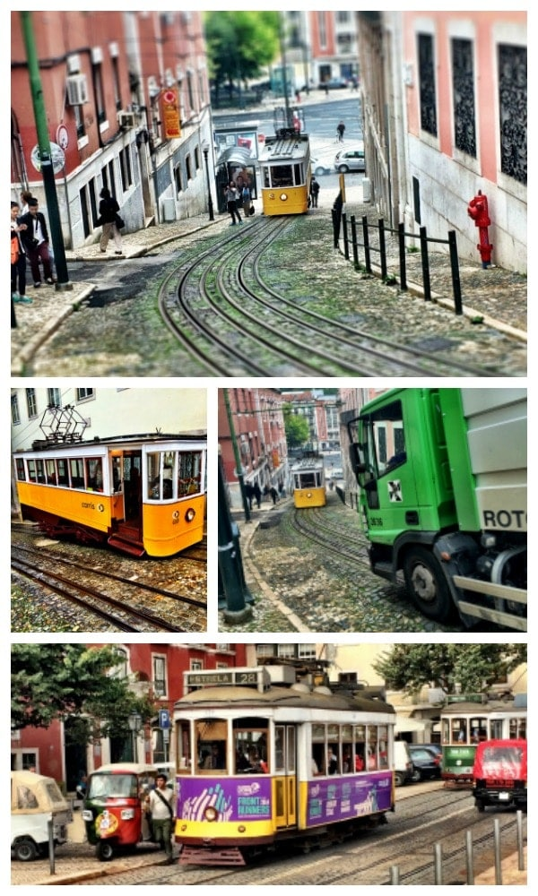 Lisbon is such a transportation friendly city! In addition to walking {great exercise going up all the hills!}, you have the option to ride a cable car, funicular, tram, elevator, taxi, or bus! | Portugal Travel