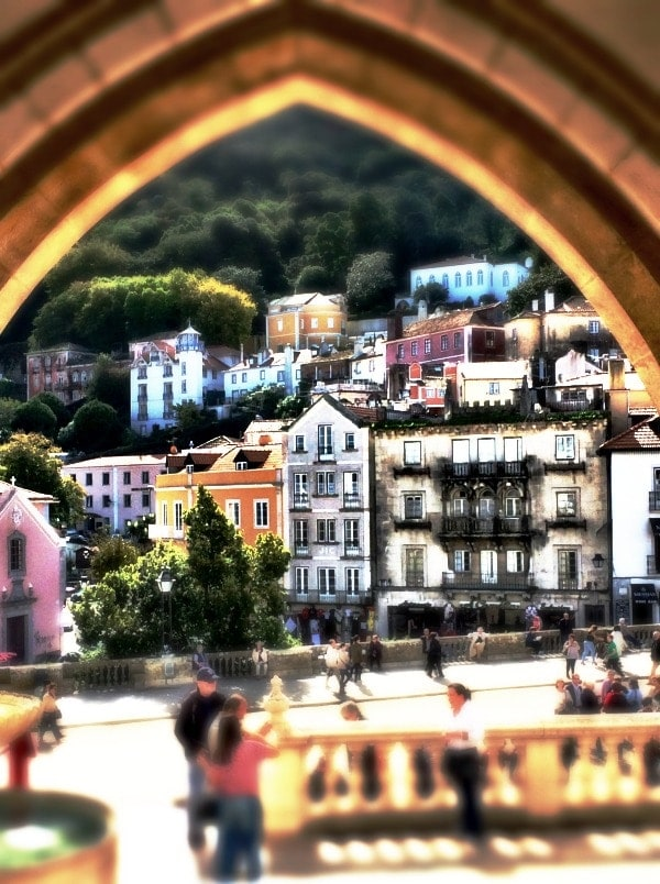 Looking out in to the oretty town of Sintra from the Palacio Nacional de Sintra | Portugal Travel