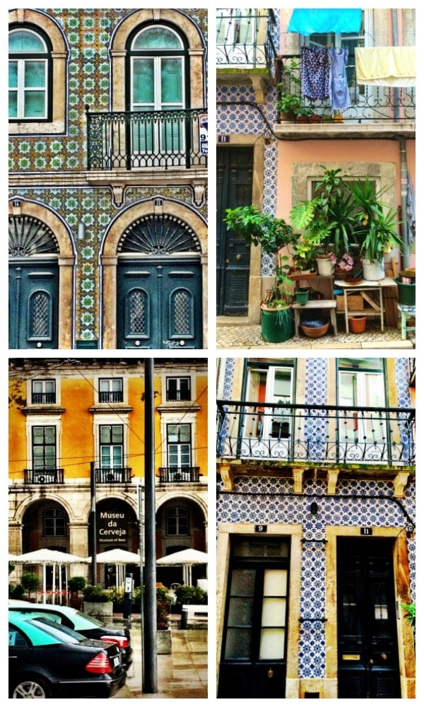 Lisbon is such a colorful city! Take a walking tour and admire the gorgeous tiled and brightly colored buildings on display! | Portugal Travel