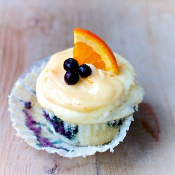 Wild Blueberry Orange Blossom Cupcakes