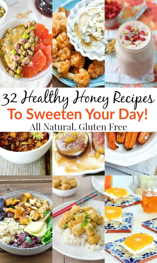 You can thank the bees for these 32healthy honey recipes that are sure to sweeten your day. Pin your favorites,both sweet and savory, so you can start experimenting with all-natural honey in the kitchen!