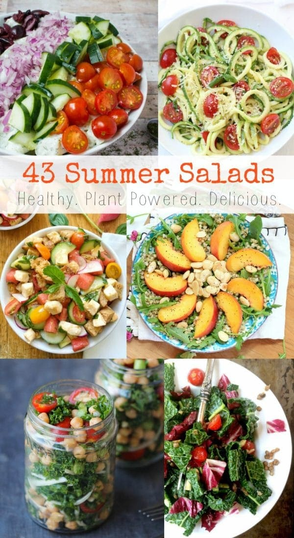 43 Healthy & Delicious Plant Powered Summer Salads