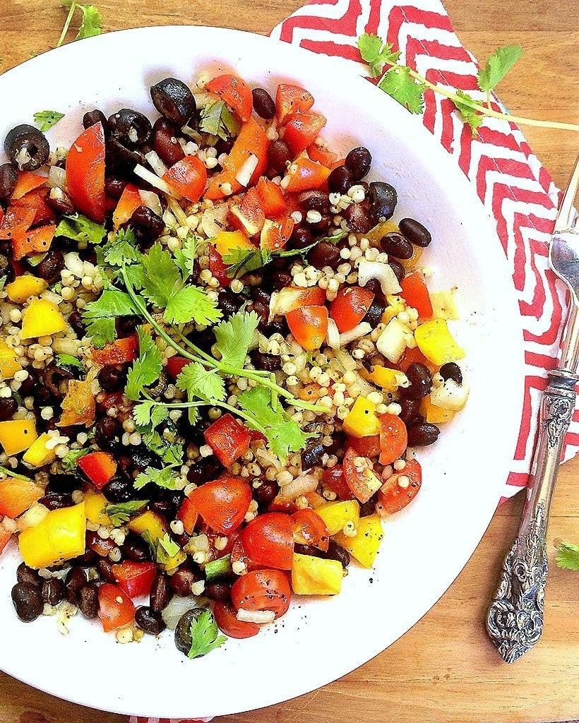 """""""Clean Out The Fridge"""" Mexican Sorghum Veggie Power Bowl 