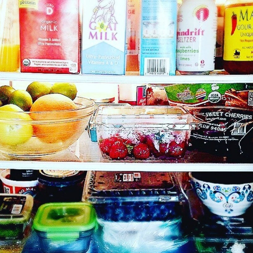 Happiness is a well stocked refrigerator!