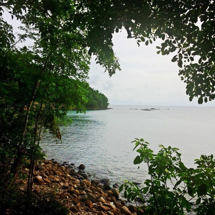 Gorgeous beach just steps from Villa Cest La Vie in Sat Lucia