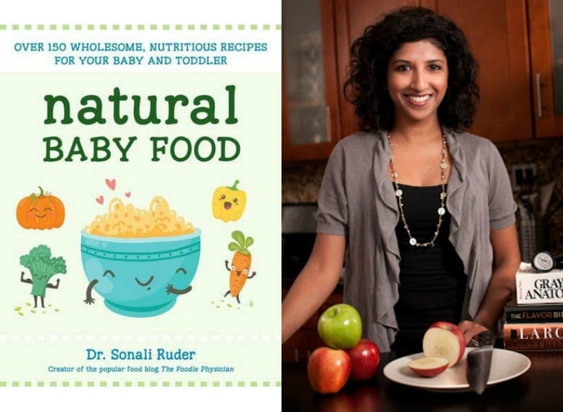 Natural Baby Food cookbook by Dr. Sonali Ruder, aka The Foodie Physician | read my review and get the recipe for Cauliflower Cheesy Bread @thespicyrd