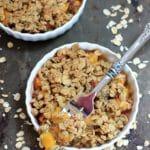 Dessert for Breakfast! Easy Peach Crisp {Healthy, Vegan, Gluten Free}