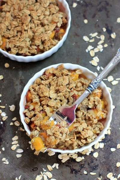 Dessert for Breakfast! Gluten Free Peach Crisp
