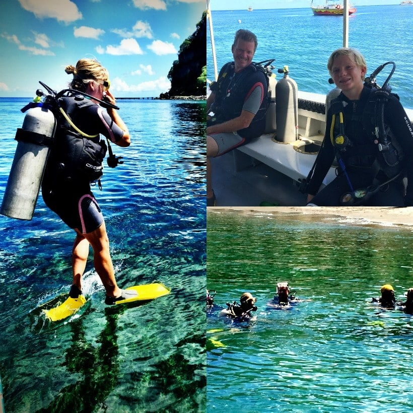 Want to try scuba diving while you're in St Lucia? The crew at Steve's Scuba will take the BEST care of you. Warning: you may get hooked!