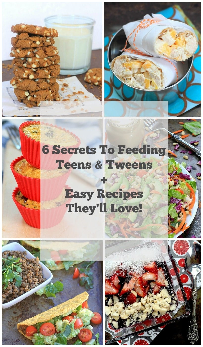 6 Secrets to Feeding Teens & Tweens + Easy Recipes They'll Love! | Get expert tips and teen/tween approved recipes @thespicyrd www.eastewart.com