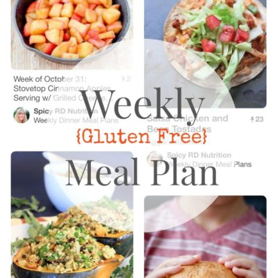 Gluten Free Weekly Meal Plan, Week of October 31, at The Spicy RD