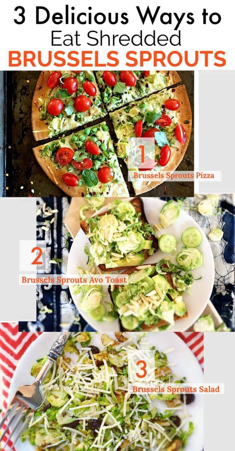 Trying to eat more cruciferous veggies?These gluten free Brussels sprouts recipes are super healthy, and SO easy and delicious too. Try all 3 of 'em today! #glutenfreerecipes #healthyrecipes #brusselssprouts #vegetarianrecipes