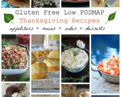 Gluten Free, Low FODMAP Thanksgiving Recipes Everyone Will Love