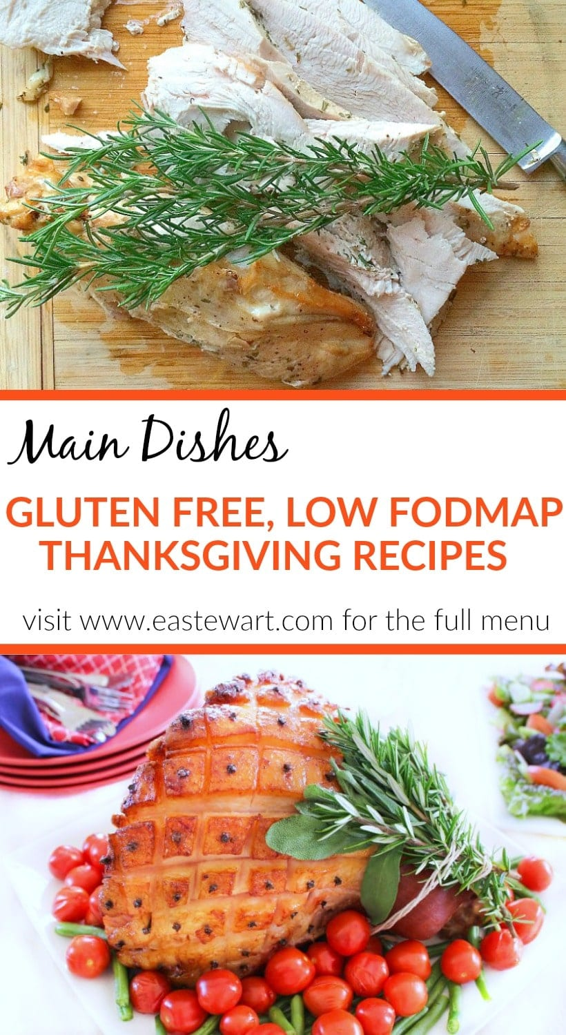 These flavorful gluten free, low FODMAP Thanksgiving main dishes are sure to please everyone you're celebrating with this holiday season!