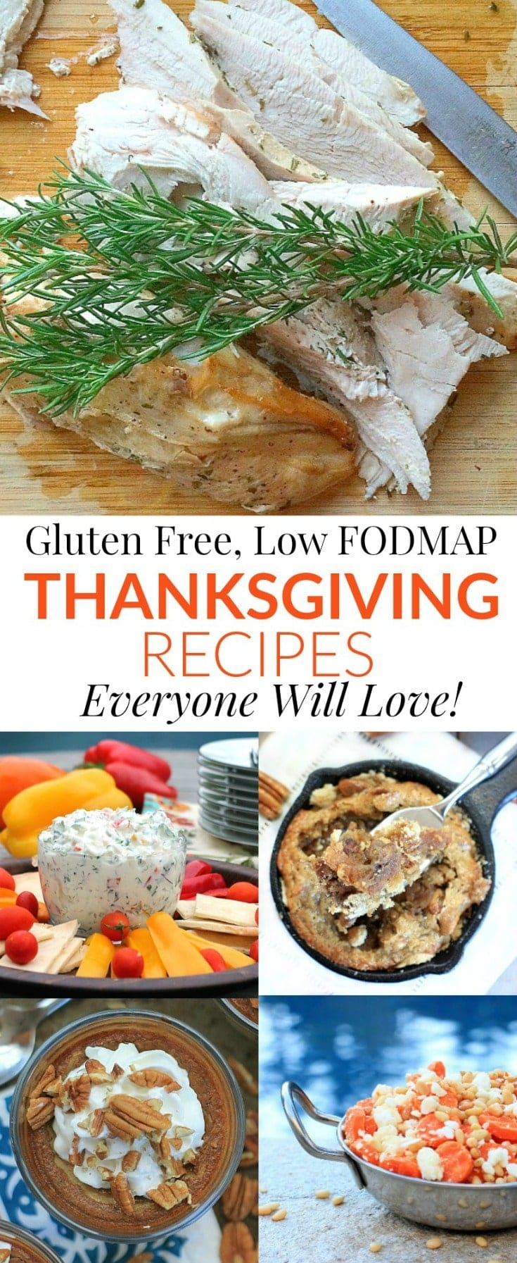 These flavorful gluten free, low FODMAP Thanksgiving recipes are sure to please everyone you're celebrating with this holiday season! #ThanksgivingRecipes #lowFODMAP #GlutenFree #holidays #holidayrecipes