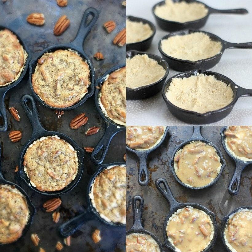 Perfect dessert for the holidays! Mini Gluten Free Pecan Pie Tarts   Vegan and Low FODMAP recipe @thespicyrd