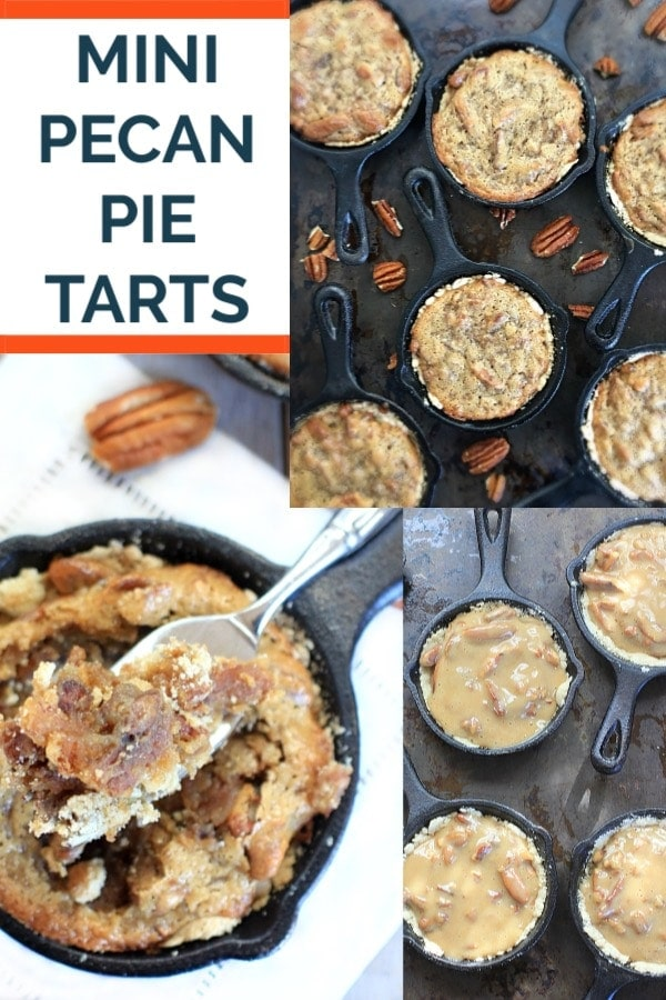 These Gluten Free Vegan Mini Pecan Pie Tarts get rave reviews! Perfect for the holidays, they're also low FODMAP, and a little bit healthy too! #ThanksgivingRecipes #glutenfreevegan #lowFODMAP #Christmas