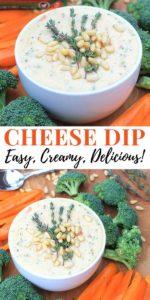 Easy Cheese Dip with Veggies Pinterest Image