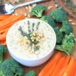 Healthy Queso Dip w/ Broccoli, Bell Peppers, & Parmesan Cheese + The Scoop on A2 Milk