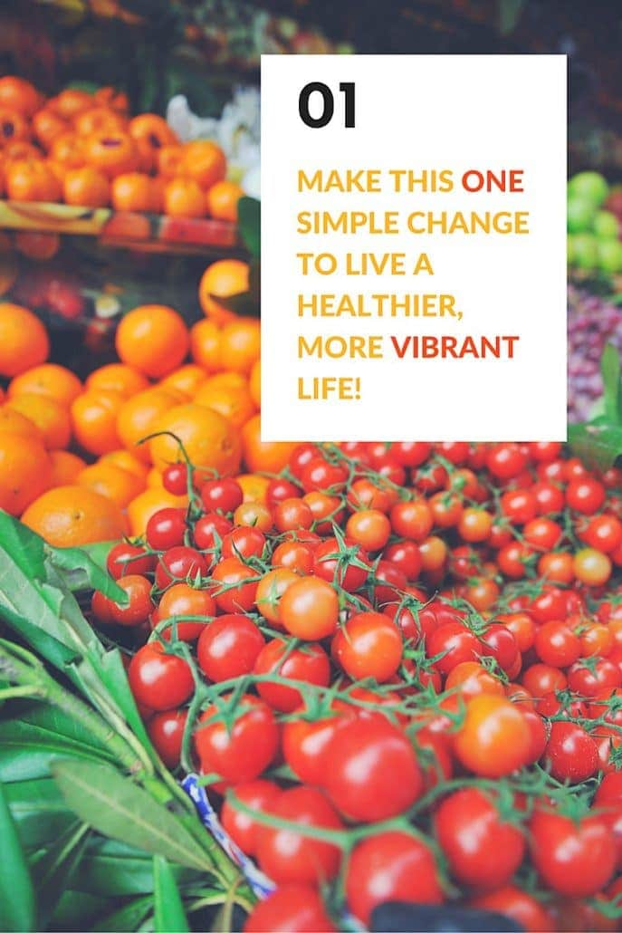 Make this ONE simple change to live a healthier more vibrant life...Eat more vegetables and fruits! GEt your free 3-day jump start meal plan at The Spicy RD!