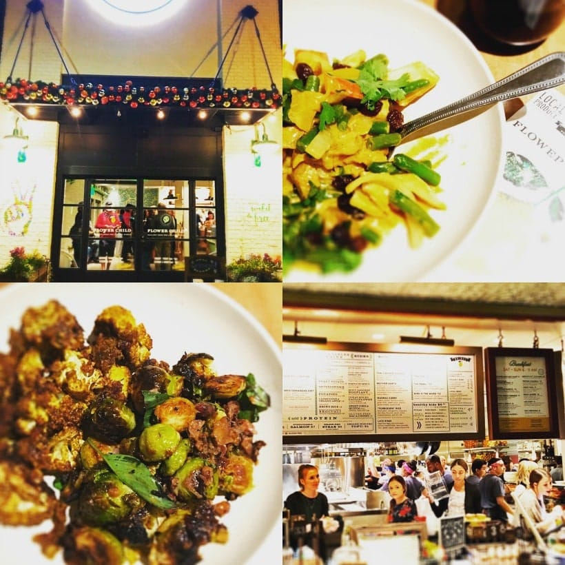 Flower Child Restaurant in Del Mar, CA at The Flower Hill Mall | Lots of healthy and delicious gluten free and vegan options!