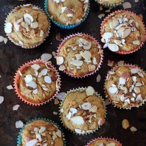 Eat More Muffins! Gluten Free Carrot Cake Muffins + Simply Sesame Vanilla w/ Almond Bits
