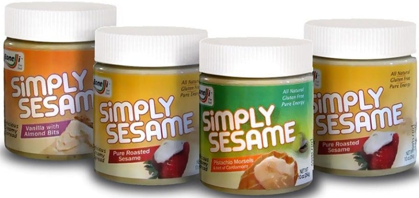 Simply Sesame Spreads are a healthy treat! Made from simple wholesome ingredients and low in added sugar, enjoy straight off the spoon for a healthy snack, or enjoy in baked goods, smoothies and more! #AD