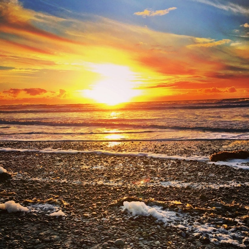 Watching the sunset at Del Mar Beach is one of my favorite things to do! | San Diego, California Travel