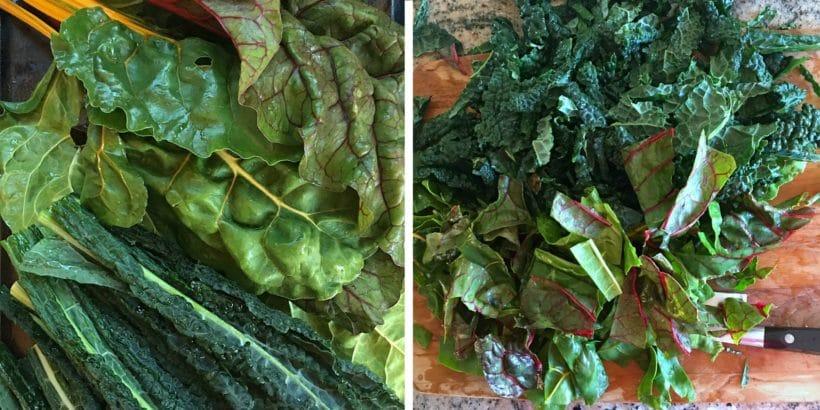Kale and Swiss Chard