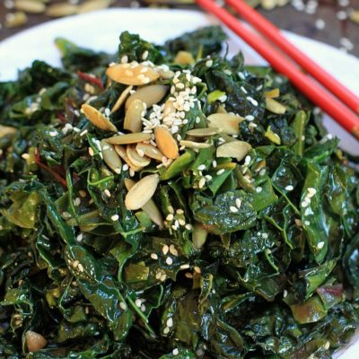 Seriously addictive greens! Spicy Kale and Swiss Chard Saute | Healthy recipes, gluten free, vegan, paleo, low FODMAP option