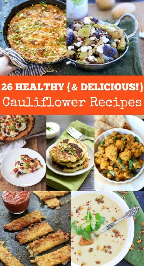 26 Healthy {and Delicious!} Cauliflower Recipes. One for every other week of the year! | Get all the gluten free recipes at The Spicy RD!